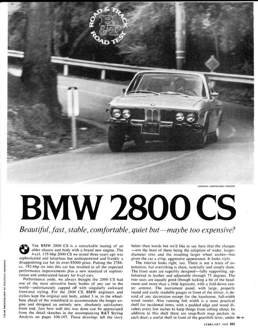 Road and Track Feb 1973 - Dan Gurney USAC Eagle - Jaguar XJ6 - Mercedes-Benz 280